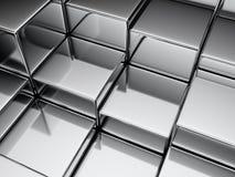De achtergrond van de kubus Stock Foto's