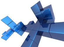 De achtergrond van de kubus Stock Foto