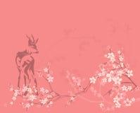De achtergrond van de lenteherten Stock Fotografie