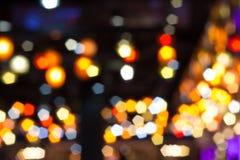 De Achtergrond van de Lichten van Bokeh royalty-vrije stock afbeeldingen
