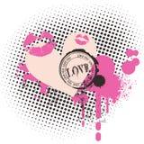 De achtergrond van de liefde Stock Fotografie