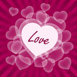 De achtergrond van de liefde Royalty-vrije Stock Foto's