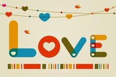 De Achtergrond van de liefde Stock Afbeelding