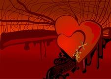 De achtergrond van de liefde royalty-vrije illustratie