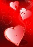 De achtergrond van de liefde Stock Foto's