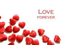 De achtergrond van de liefde. De samenstelling van harten Royalty-vrije Stock Foto