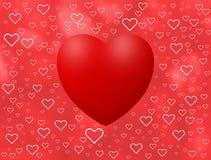 De achtergrond van de liefde met harten Stock Foto's