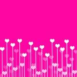 De achtergrond van de liefde met harten royalty-vrije illustratie