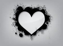 De Achtergrond van de Liefde van Graffiti Stock Afbeeldingen