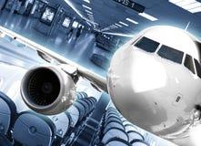 De achtergrond van de luchthaven Stock Afbeelding