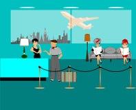 De achtergrond van de luchthavenzitkamer Stock Fotografie