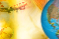 De achtergrond van de luchtvaart Royalty-vrije Stock Foto's