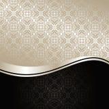 De Achtergrond van de luxe: zilver en zwarte. Royalty-vrije Stock Afbeeldingen