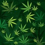 De Achtergrond van de marihuana royalty-vrije illustratie