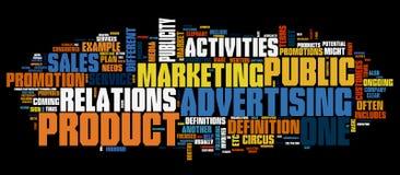 De achtergrond van de marketing Royalty-vrije Stock Afbeeldingen