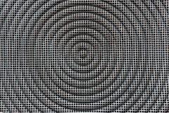 De achtergrond van de metaaltextuur Vierkant net met cirkel Royalty-vrije Stock Foto