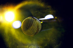De achtergrond van de microfoon Royalty-vrije Stock Fotografie