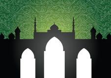 De achtergrond van de moskee vector illustratie