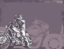 De Achtergrond van de motorfiets Stock Afbeelding