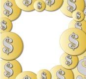 De achtergrond van de muntstukkaart Royalty-vrije Stock Afbeeldingen