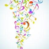 De achtergrond van de muziek. vector illustratie