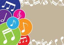 De achtergrond van de muziek royalty-vrije illustratie
