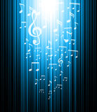 De achtergrond van de muziek Stock Foto