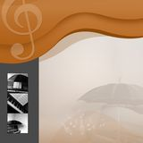 De achtergrond van de muziek Stock Afbeelding