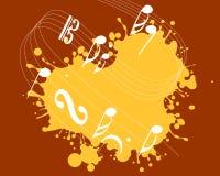 Muziekachtergrond stock foto