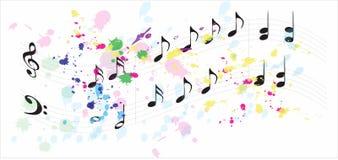 De achtergrond van de muziek Royalty-vrije Stock Foto