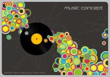 De achtergrond van de muziek Stock Fotografie