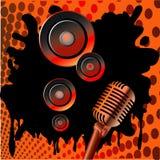 De achtergrond van de muziek Stock Foto's