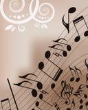 De achtergrond van de muziek Royalty-vrije Stock Fotografie