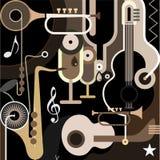 De Achtergrond van de muziek - abstracte vectorillustratie Stock Foto's