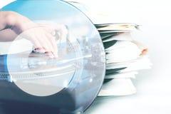 De achtergrond van de muziek Dubbele blootstelling Royalty-vrije Stock Foto's