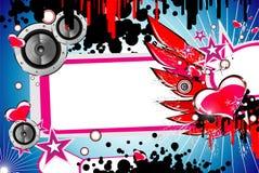 De achtergrond van de muziek en van de Liefde vector illustratie