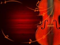 De achtergrond van de muziek met viool Royalty-vrije Stock Afbeeldingen