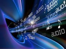 De Achtergrond van de Muziek van Anstract Stock Afbeeldingen