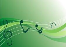 De achtergrond van de muziek (vector) Stock Fotografie