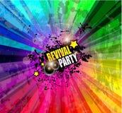 De achtergrond van de muziekclub voor de gebeurtenis van de discodans Stock Afbeelding