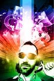 De achtergrond van de muziekclub voor discodans Stock Foto's