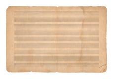 De achtergrond van de muziekpaper royalty-vrije stock foto