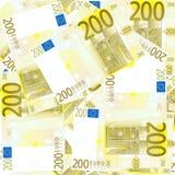 De achtergrond van de naadloze 200 Euro Stock Foto