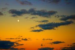 De achtergrond van de nachthemel. Stock Foto