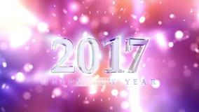 De Achtergrond van de nieuwjaar 2017 Aftelprocedure royalty-vrije illustratie