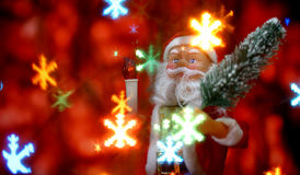 De achtergrond van de nieuwjaar` s kaart met Santa Claus Royalty-vrije Stock Foto