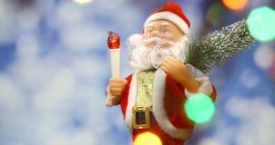 De achtergrond van de nieuwjaar` s kaart met Santa Claus Stock Afbeelding