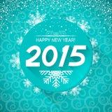 De Achtergrond van de nieuwjaarskaart Vector illustratie Stock Afbeeldingen