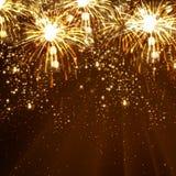 De achtergrond van de nieuwjaarviering Royalty-vrije Stock Foto