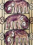 De achtergrond van de olifant Royalty-vrije Stock Foto's